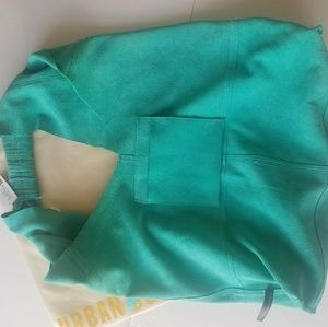 Urban Outfitters Bags - Urban Outfitters Suede Turquoise Hobo Tote Bag